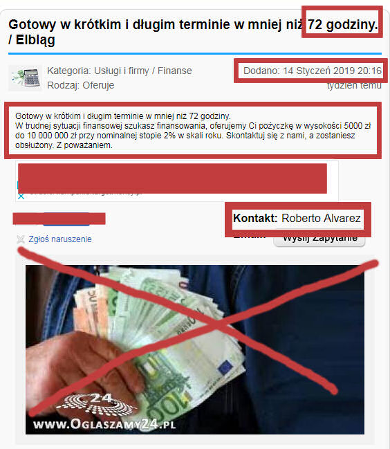 Roberto Alvarez i jego oferta pożyczki internetowej w 72 godziny na 2% z portalu oglaszamy24