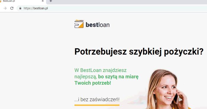 Szybka Chwilówka od BestLoan bez zaświadczeń? – błąd -> dane do 110 firm trafią (bestloan.pl)