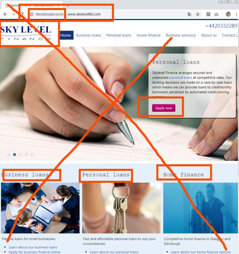 skylevelltd.com – oszustwo – Sky Level Finance – fake bez zaświadczeń